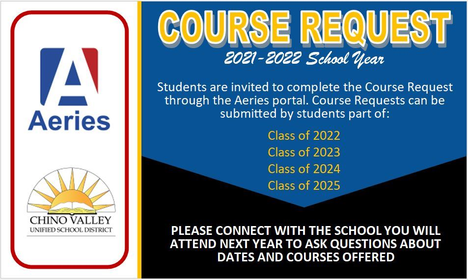 2021-2022 Course Request for 6th Grade Students