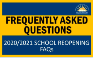 Your top questions concerning the reopening of schools have been collected and answered. Please sele