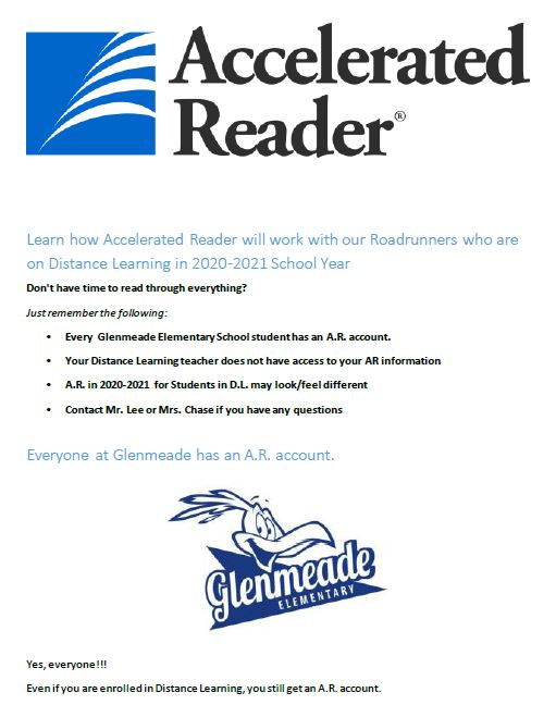 Accelerated Reader (AR) for Distance Learning Students