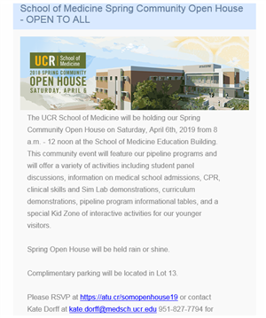 UCR Open House