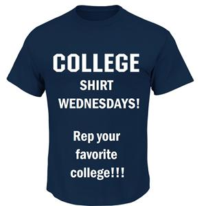 College Shirt Wed