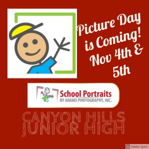 Picture Day November 4th & 5th