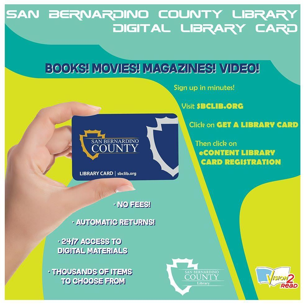 Digital Library Card From the San Bernardino County Library