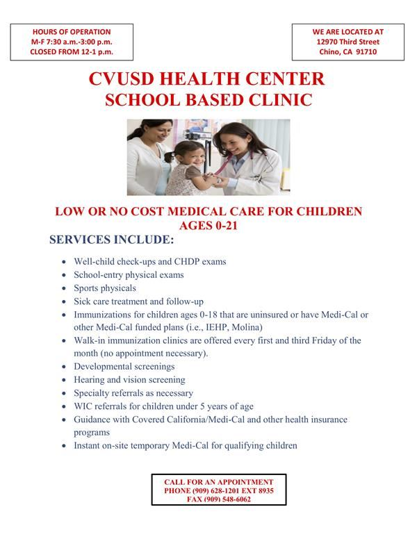 CVUSD Heath Center