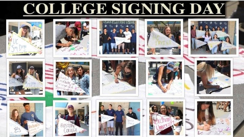 College Signing Day for Seniors