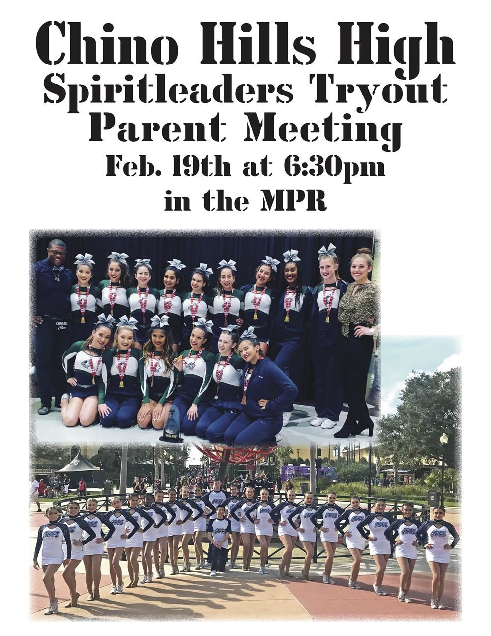 Spiritleaders Parent Meeting