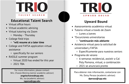 Educational Talent Search and Upward Bound