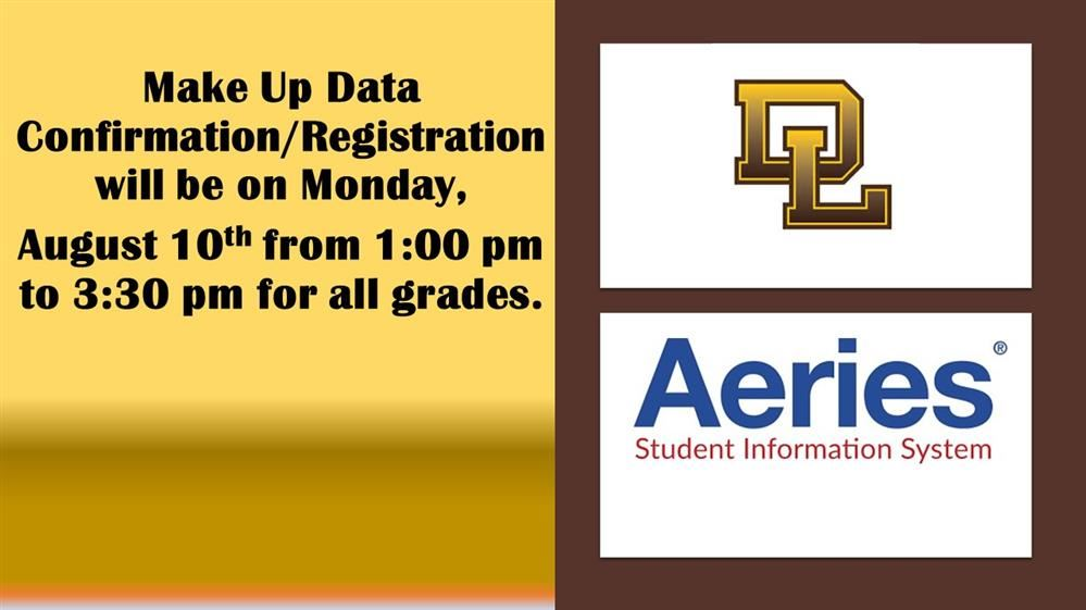 AERIES PARENT PORTAL AND DATA CONFIRMATION INSTRUCTIONS (CLICK BELOW FOR MORE INFO)