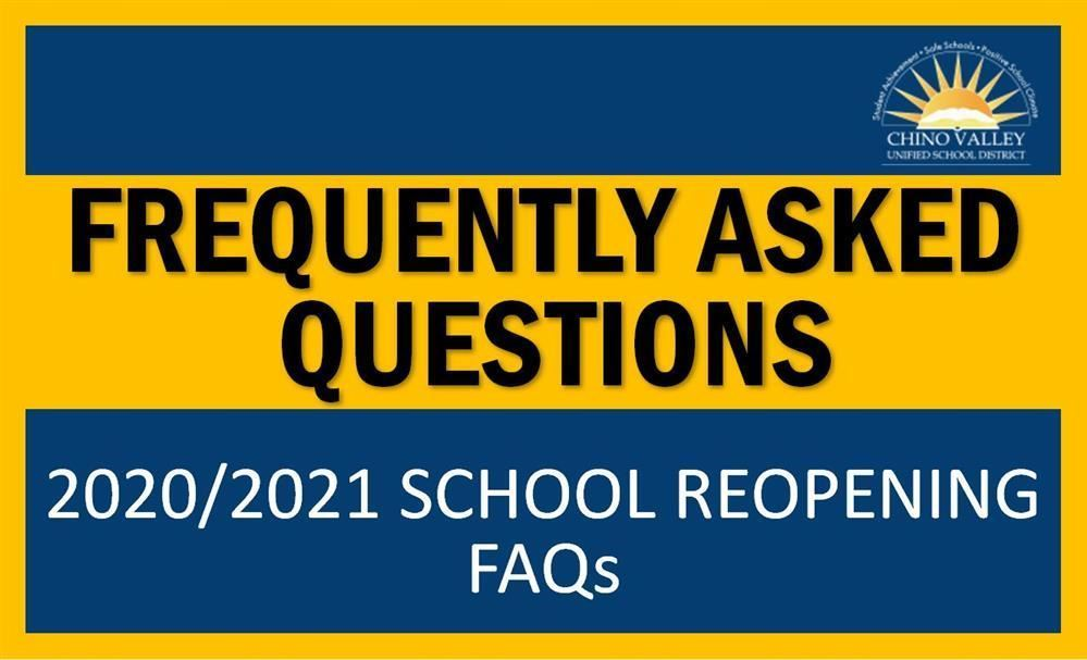 Your top questions concerning the reopening of schools have been collected and answered. Please sel