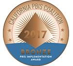 California PBIS Coalition 2017 Bronze Medal logo