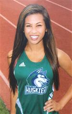 Photo of teenage girl in track uniform