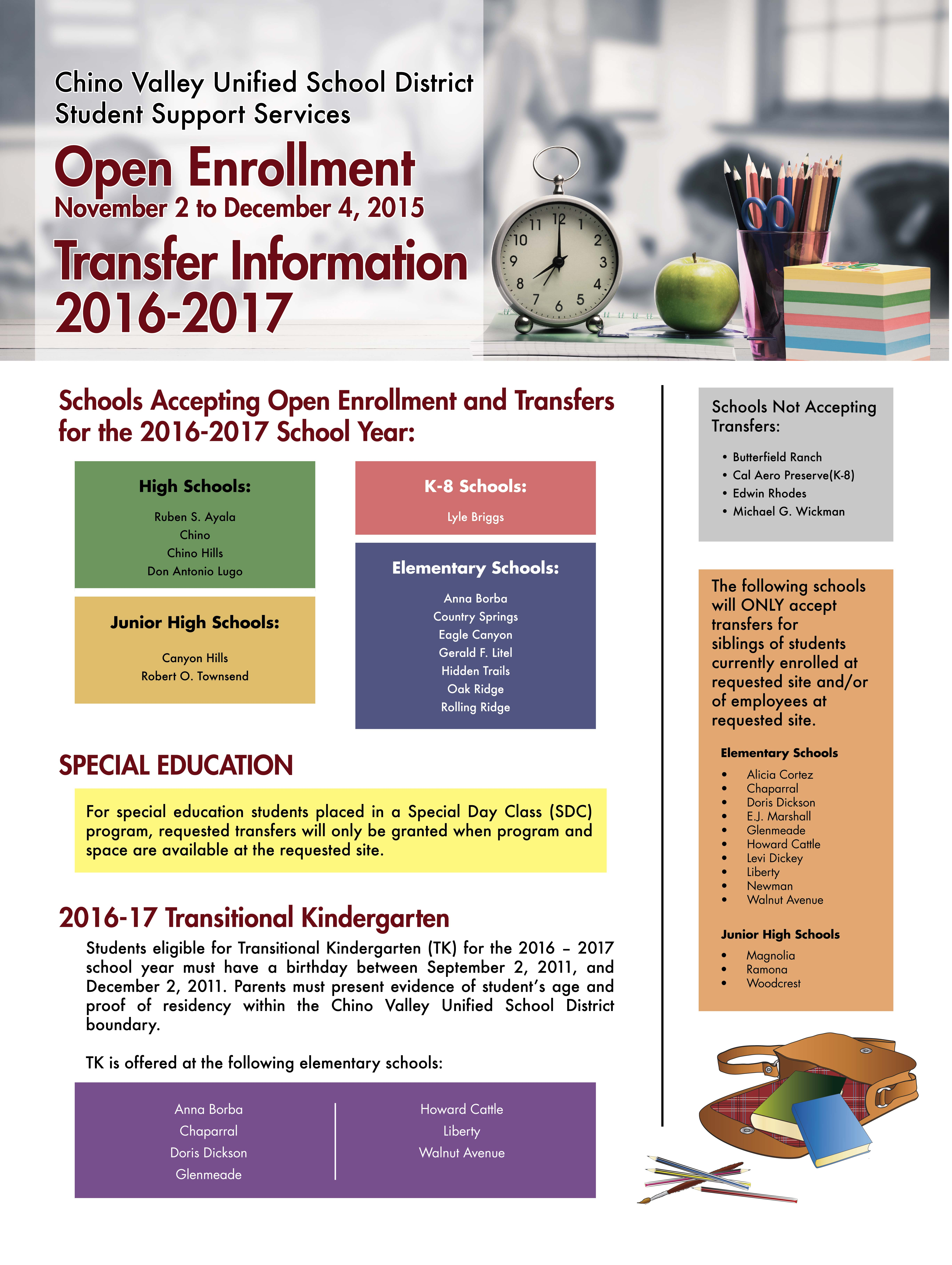 open enrollment flyers sample