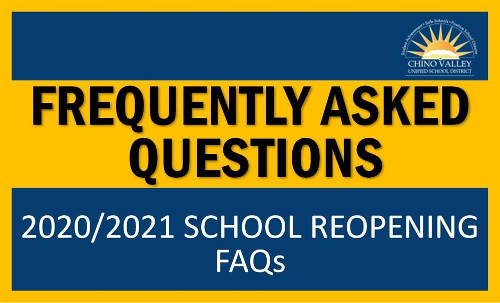 2020/2021 School Reopening FAQs