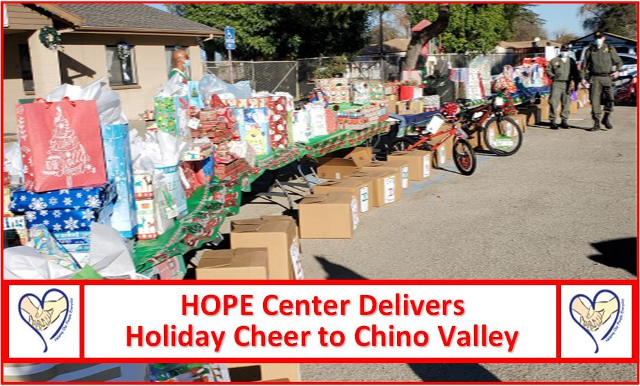 HOPE Center and partners deliver holiday cheer for Chino Valley families!