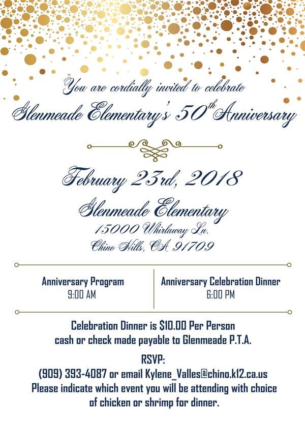 You're invited to Glenmeade's Golden Anniversary