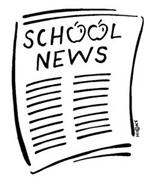 Illustration of a student newspaper with the headline School News.
