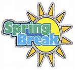 Illustration of sun with the words Spring Break over it