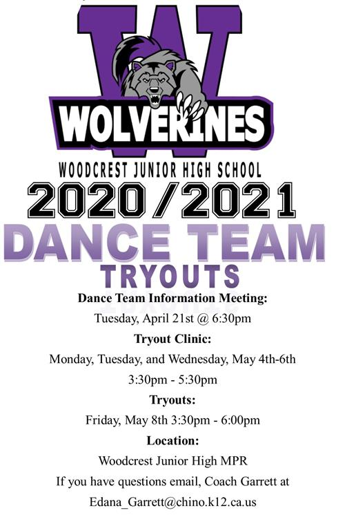 2020-21 DANCE TEAM TRYOUTS