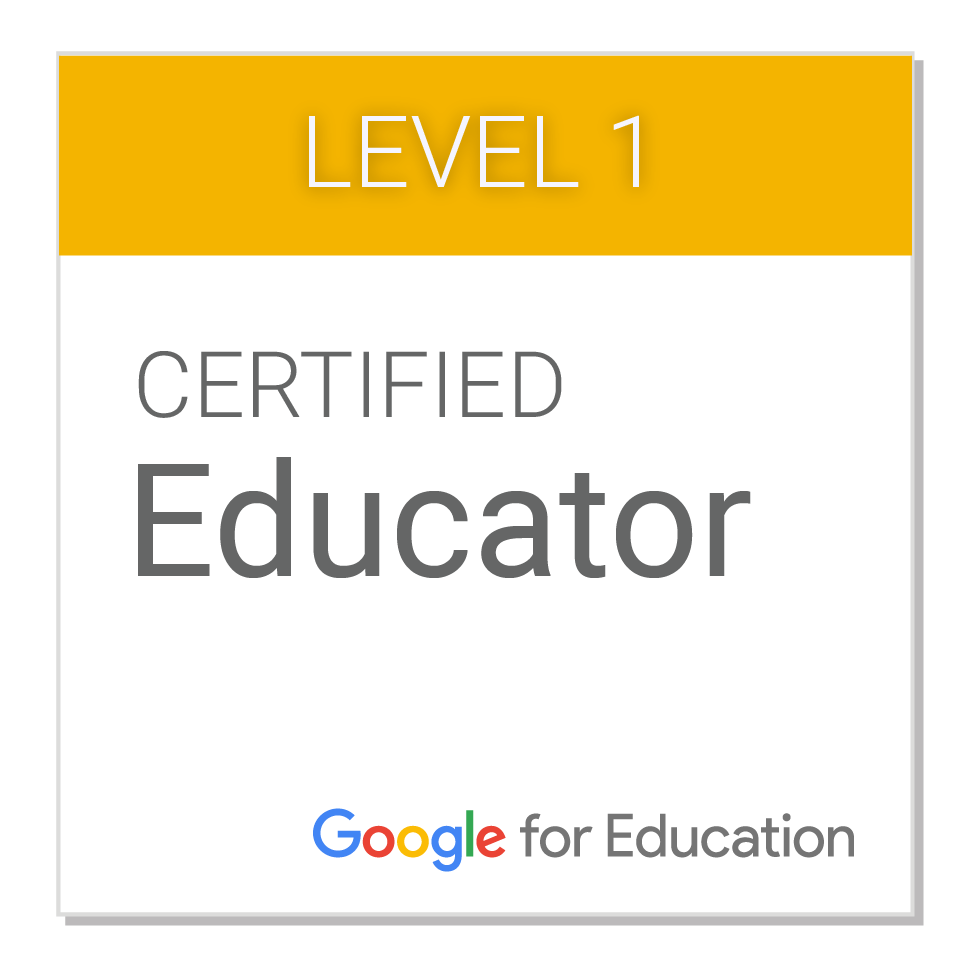 Level 1 Certified Educator Google for Education