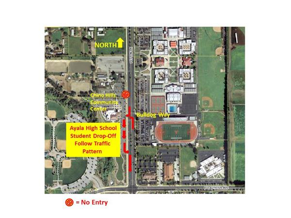 Map of Chino Hills Community Park and part of Ayala High school site