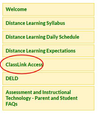 Screenshot of the ClassLink Access tab