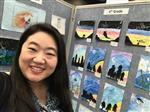 Miss Yi at the Art Festival