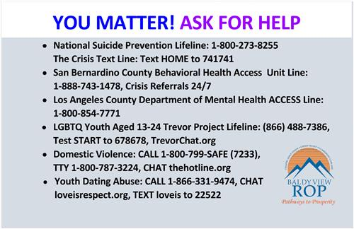 YOU MATTER-ASK FOR HELP