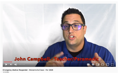 Mr. Campbell's Welcome Video - Fall 2020