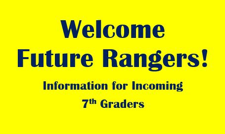 Welcome Future Rangers