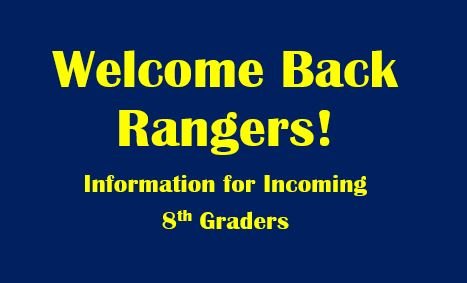 Welcome Back Rangers!