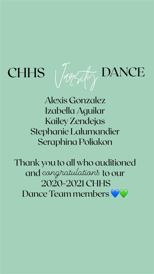 Dance Team Roster