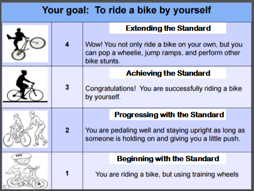 Image result for riding a bike proficiency scale