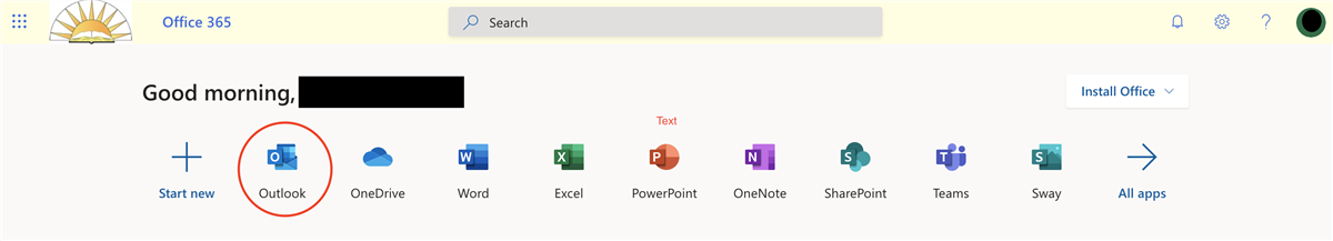 Office 365 Homepage