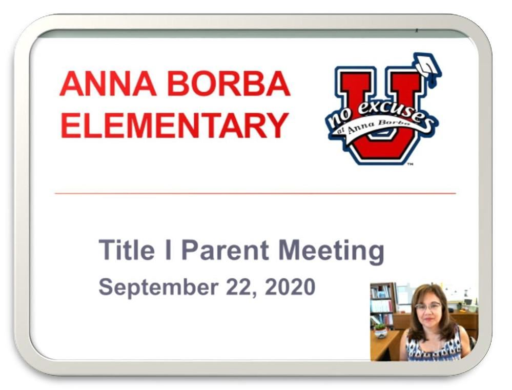 Title I Parent Meeting