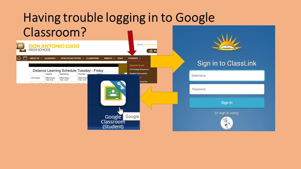 Google Classroom and Classlink Access