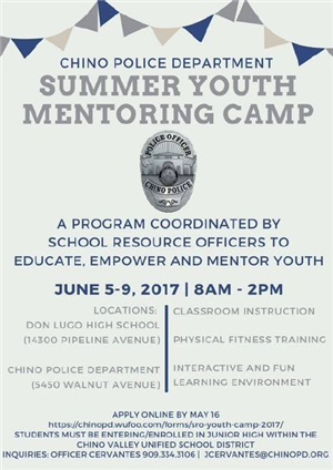 Summer Youth Mentoring Camp