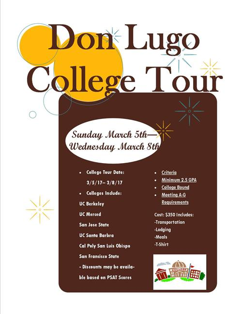 College Tour Flyer