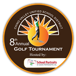 Logo for the 8th annual Hit the Greens for Scholarships Golf Tournament