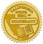 Art of the gold California State Seal of Biliteracy