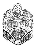 Don Lugo High logo featuring a head and shoulders illustration of a Spanish conquistador at the top