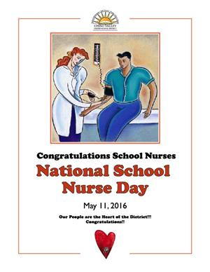 National School Nurse Day flyer, May 11, 2016