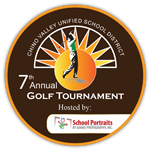 Illustration of 7th annual Hit the Greens for Scholarships Golf Tournament logo