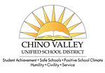 Chino Valley Unified School District logo of a rising sun with a book under it.