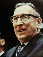 Photo of the late UCLA basketball coach John Wooden