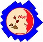 Odyssey of the Mind logo of a probile of a face with a plant growing inside