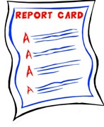 Illustration of a report card with all A grades