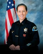 Head and torso photo of new Claremont Police Chief Shelly Vander Veen