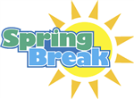 Illustration of the sun with the words Spring Break over it.