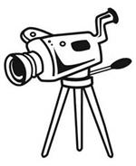 Illustration of video camera on a tripod