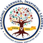 Logo for Classified School Employees Week featuring a tree inside a circle